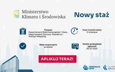 Ministerstwo Klimatu i Środowiska ze stażami dla studentów także z Polonii